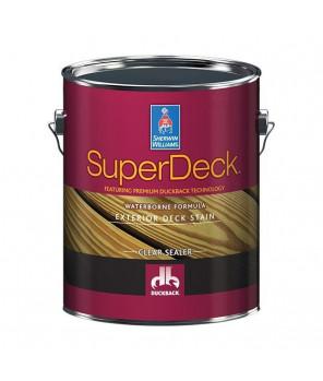 Пропитка для деревянных фасадов, Super Deck Exterior Waterborne Clear Sealer пропитка галлон