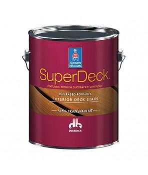 Масло-пропитка для дерева для внешних работ, Super Deck Oil-based Semi-Transp. stain масло галлон