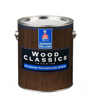 Глянцевый водный лак для дерева, Wood Classic Waterborne Polyuretane Varnish Gloss лак глянец галлон