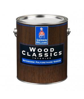 Полуматовый водный лак для пола и мебели, Wood Classic Waterborne Polyuretane Varnish Satin лак сатин галлон